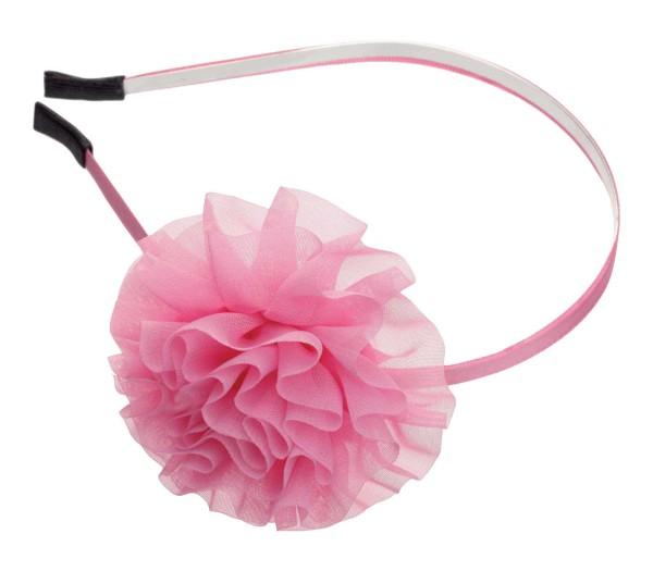 Haarreif mit große Stoff Blumen, rosa