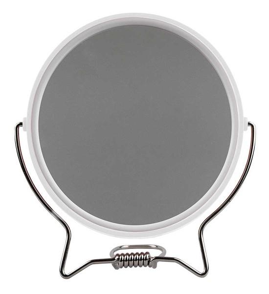 Rasierspiegel, Spiegel, 2-fach, zum Stellen oder Aufhängen, Kosmetik-Spiegel mit 2 Seiten in Weiß