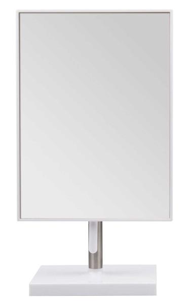 Kosmetex Mittlerer Stand-Spiegel, weiß mit Drehscharnier -Griff 13 x 17 cm Kosmetik-Spiegel neigbar