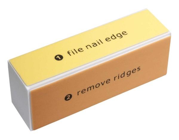 Polierblock, Nagelfeile für die Nägel, 4 seitig Körnung 400/ 600/ 1200/ 4000, Glanz ohne Lack