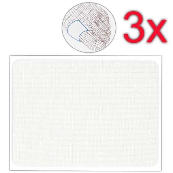 Druckstellen-Schutzpflaster Weich, 3 mm dick, 9.5x7cm, individuell zuschneidbares Pflaster, Kosmetex
