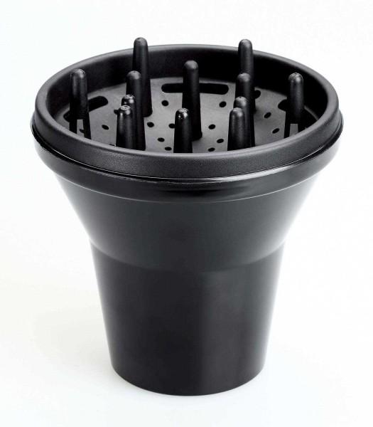 15 cm Universal Haar-Diffusor, Haartrockner-Diffusor, schwarz