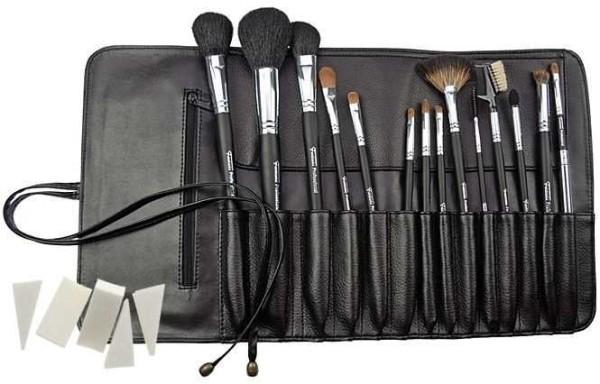 14 Kosmetik Pinsel, Kosmetikpinsel Set Professionell, Make up Pinselset mit Tasche, Kunstleder