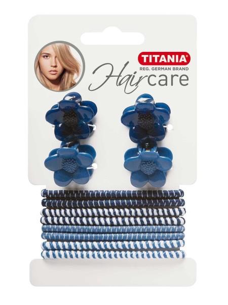 Haarschmuck Set in maritimen Farben Haargummis, Haarklammern und Clipse
