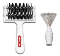 Kammreiniger und Haarbürstenreiniger Set zum Reinigen - Waschen von Kämmen und Bürsten