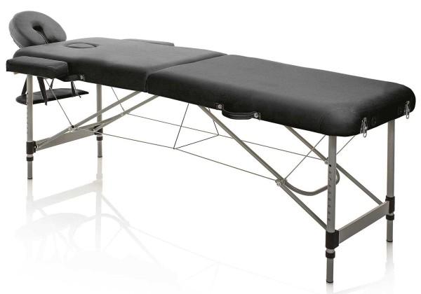 Tragbare Kosmetikliege, Master Aluminium schwarz, Leicht 13kg, klappbare mit Tragetasche