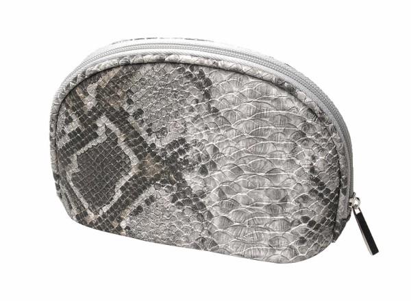 Schminktaschel, Schlangenmuster, 18 x 12 cm Kosmetiktasche, Kosmetex Kulturtasche auch für Reisen.