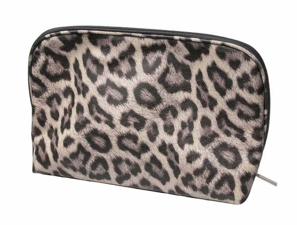 Kulturbeutel in Leoparden Optik 32 x 21,5, Kosmetex Kosmetiktasche auch geeignet für Reisen