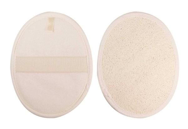 Luffa Massagepad Kosmetex für intensives Peeling und Massage, Hand Peelingpad, Massagehandschuh