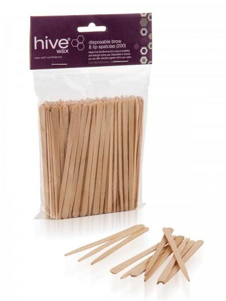200 Stk. Hive Kleine Holzspatel für Augenbrauen und Lippen, 88 x 4 mm