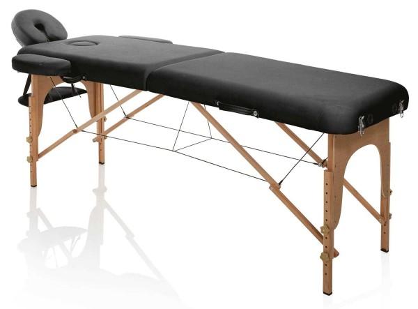 Mobile Kosmetikliege, klappbare Leicht 12kg, Holz Master Wood schwarz, transportabel mit Tragetasche