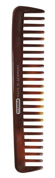 Locken-Kamm 18cm, grobe Zinken, Afrokamm für voluminöses Haar. Nasshaar-kamm-Farbe Braun