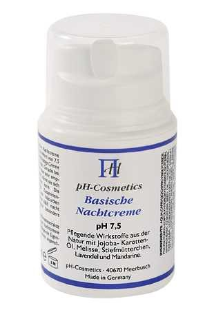 Basische Nachtcreme pH 7,5 Basencreme für die Nacht, ph-Cosmetics, Kabinenware 200 ml