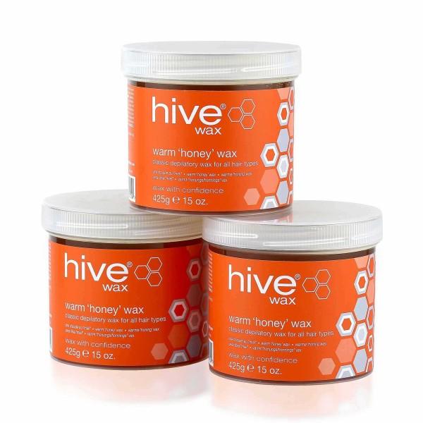 Hive 3 für 2 Pack, Warmwachs Honig, 3 x 425g