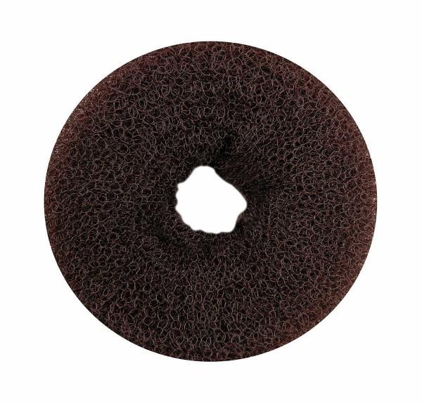 Haarkissen Ø 8cm, Duttkissen, Donut-Form, Haarring aus Frottee, braun