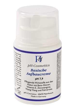Aufbaucreme, basisch, pH 7,9, ph-Cosmetics, Basen Creme die aufbaut, Tagescreme und Nachtcreme, 50 m