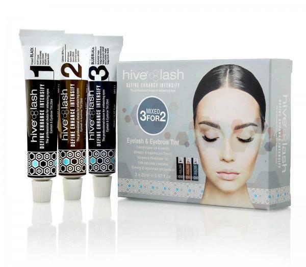 Hive 3 für 2 Farb Mix Augenbrauenfarbe Set, Wimpernfarbe 1, 2, 3