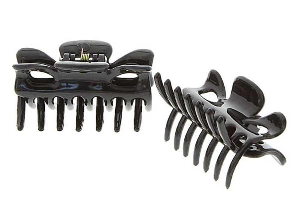 Haarklammern, Abteilklammern Greifspangen, Wellenreiter für langes Haar, schwarz