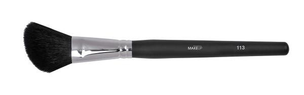 Abgeschrägter Contouring-Pinsel, Rougepinsel aus Ziegenborste, Make-up Pinsel, schwarz
