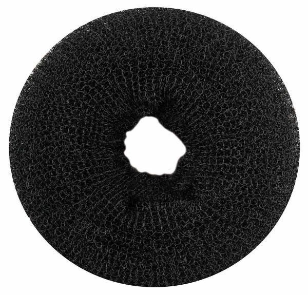 Haarkissen Ø 11cm, Duttkissen, Donut-Form, Haarring aus Frottee, schwarz